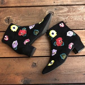 Betsy Johnson Embroidered Tilly Boot